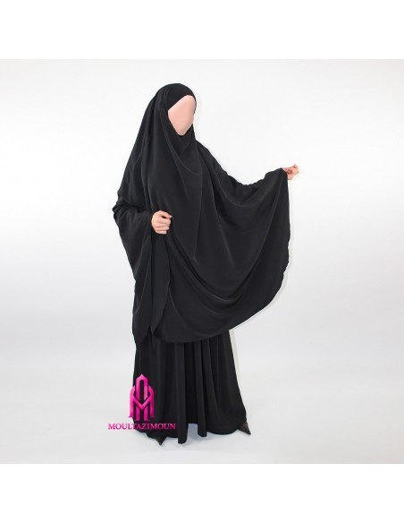 Dress with pockets and khimar