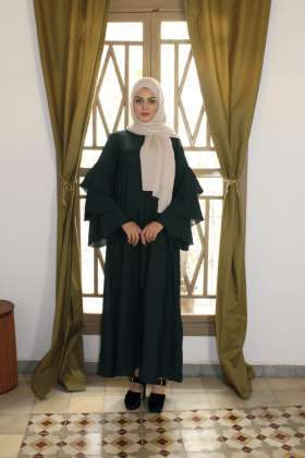 Abaya ruffles Sleeves