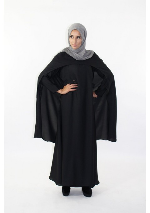 Abaya with long cape