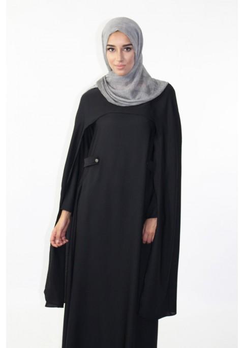 Abaya with long cape