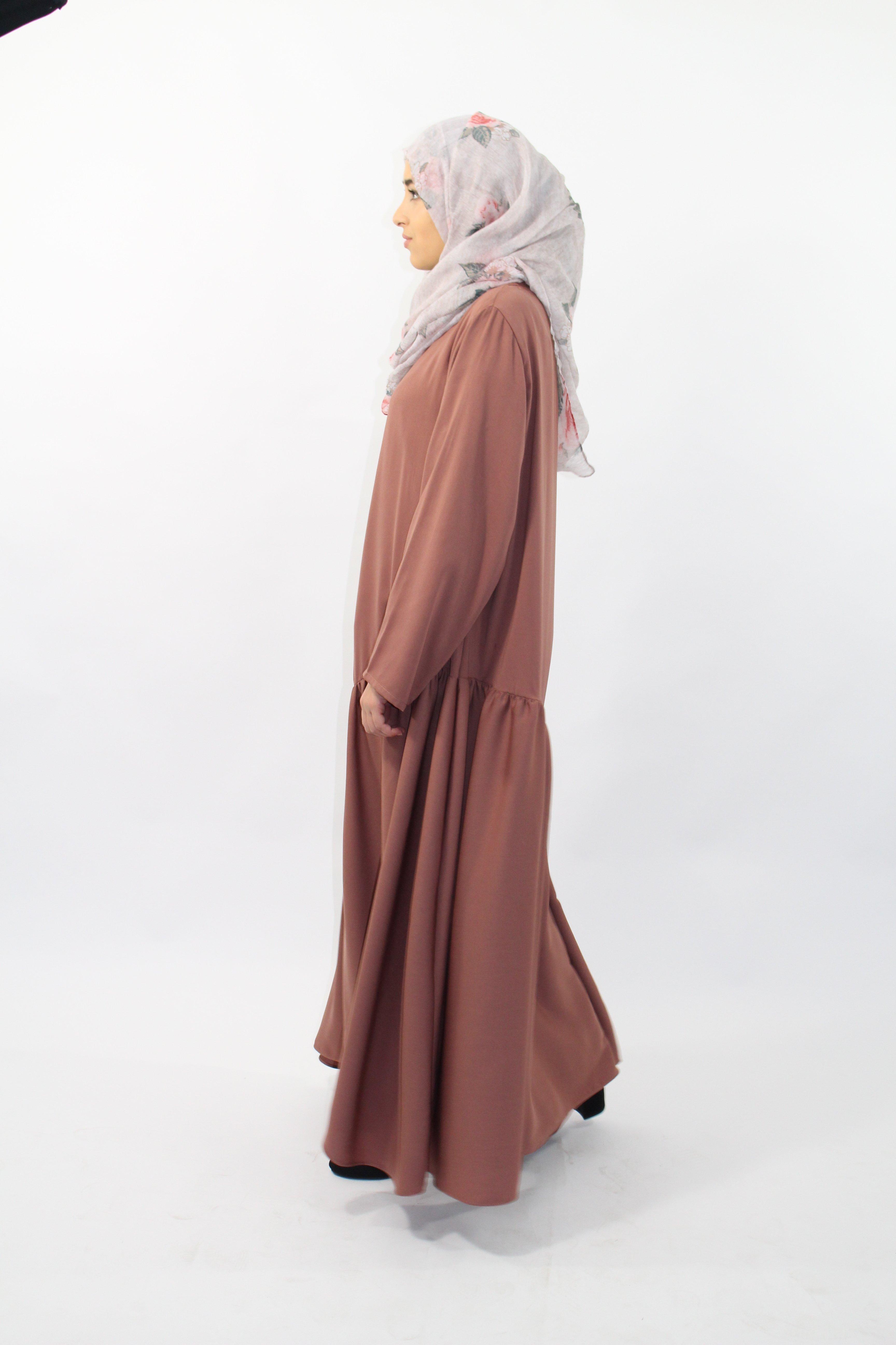 Abaya Fronce Asymetrique