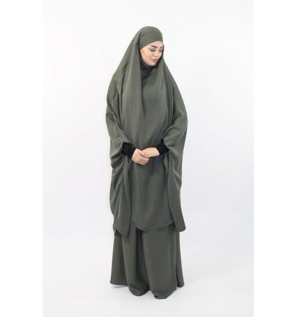 Jilbab Al Houda Lycra Sleeves Caviary