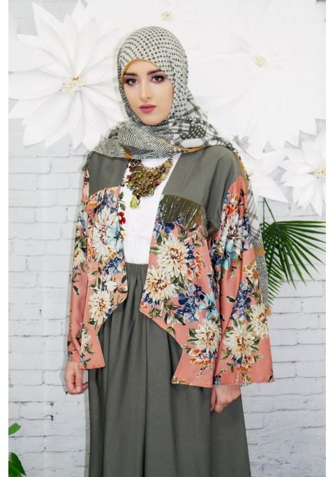 Kimono Court à franges