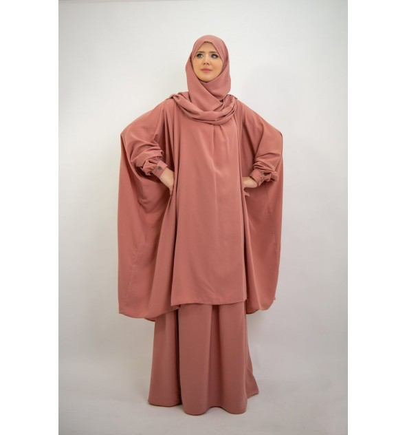 c2702288c6c Tunic with Integrated Hijab - Moultazimoun Boutique
