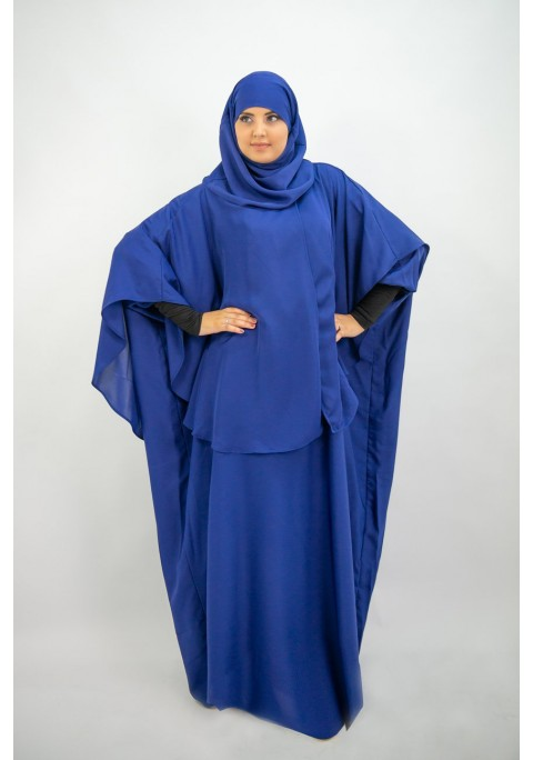 Abaya Khaleej + cape with integrated hijab