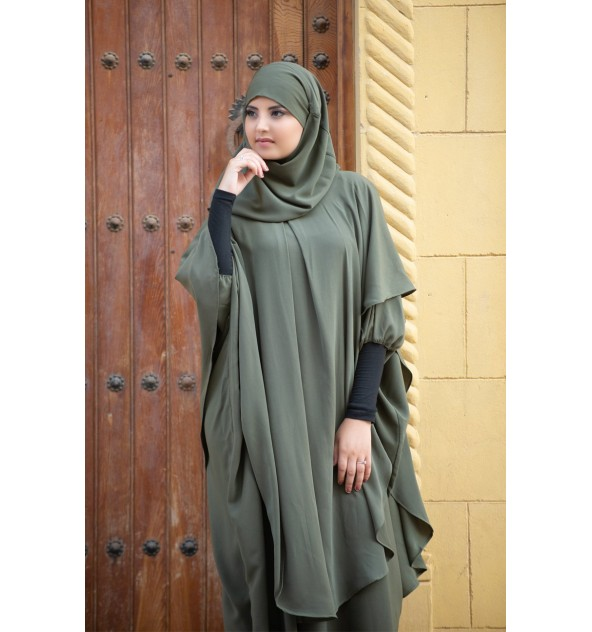 Long Khimar integrated hijab