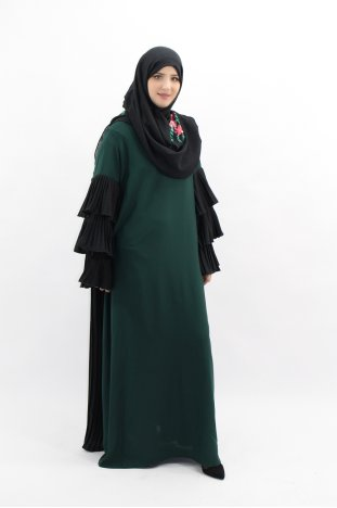 28f59a75369 Abaya Manches Volant ...