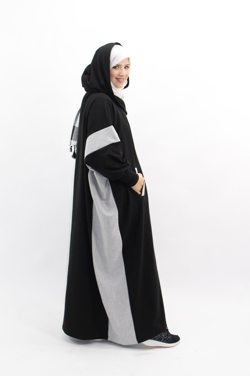 Fleece butterfly abaya