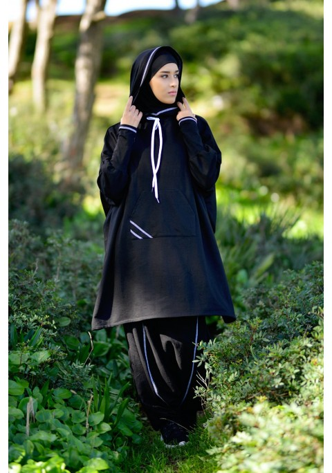 Sport set with Integrated Hijab Fleece