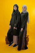 Abaya Bande Couleur Pression