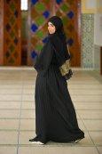 Abaya Papillon Plisse Avec Ceinture