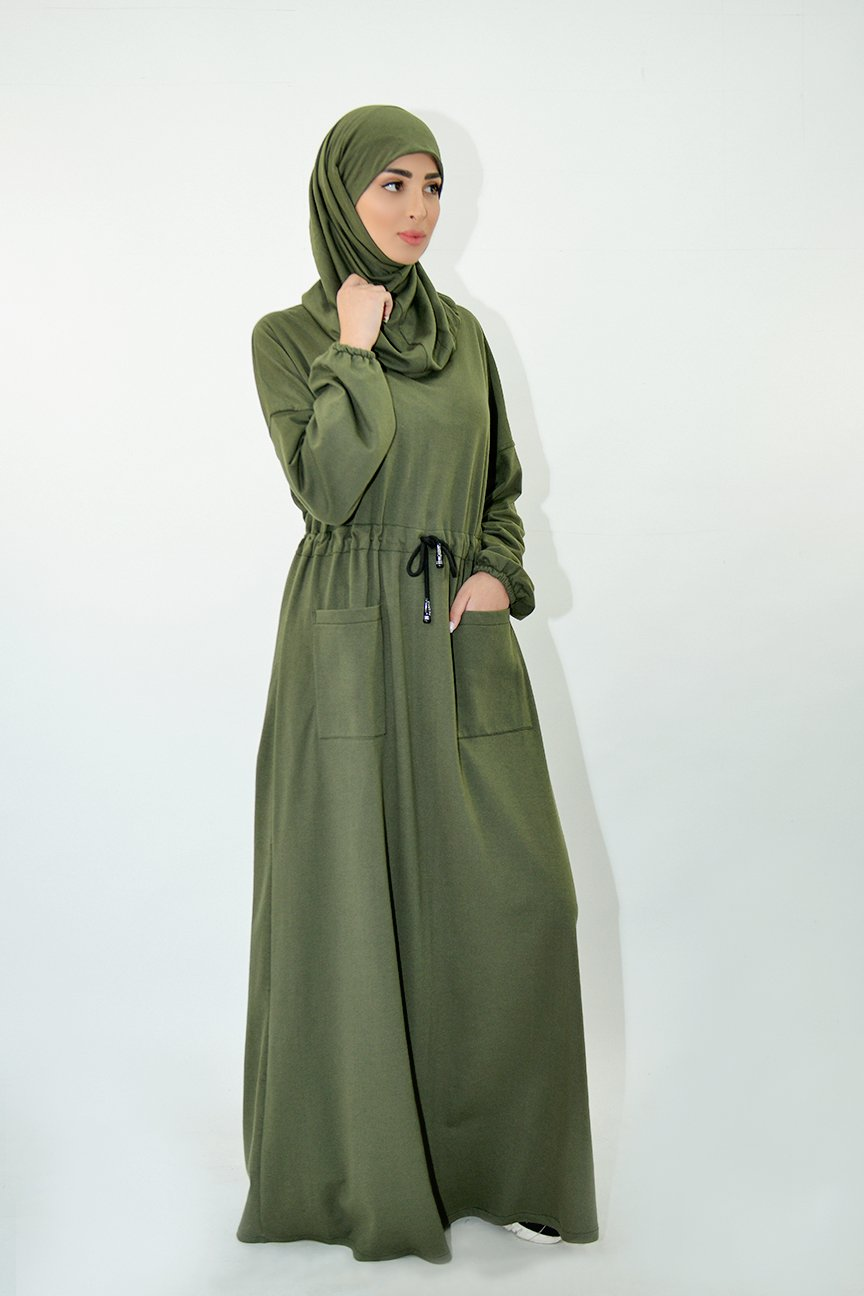 Abaya Molleton Avec Ras