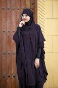 Abaya Khaleej + long khimar avec hijab intégré