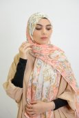 Flower-wrapped shawl
