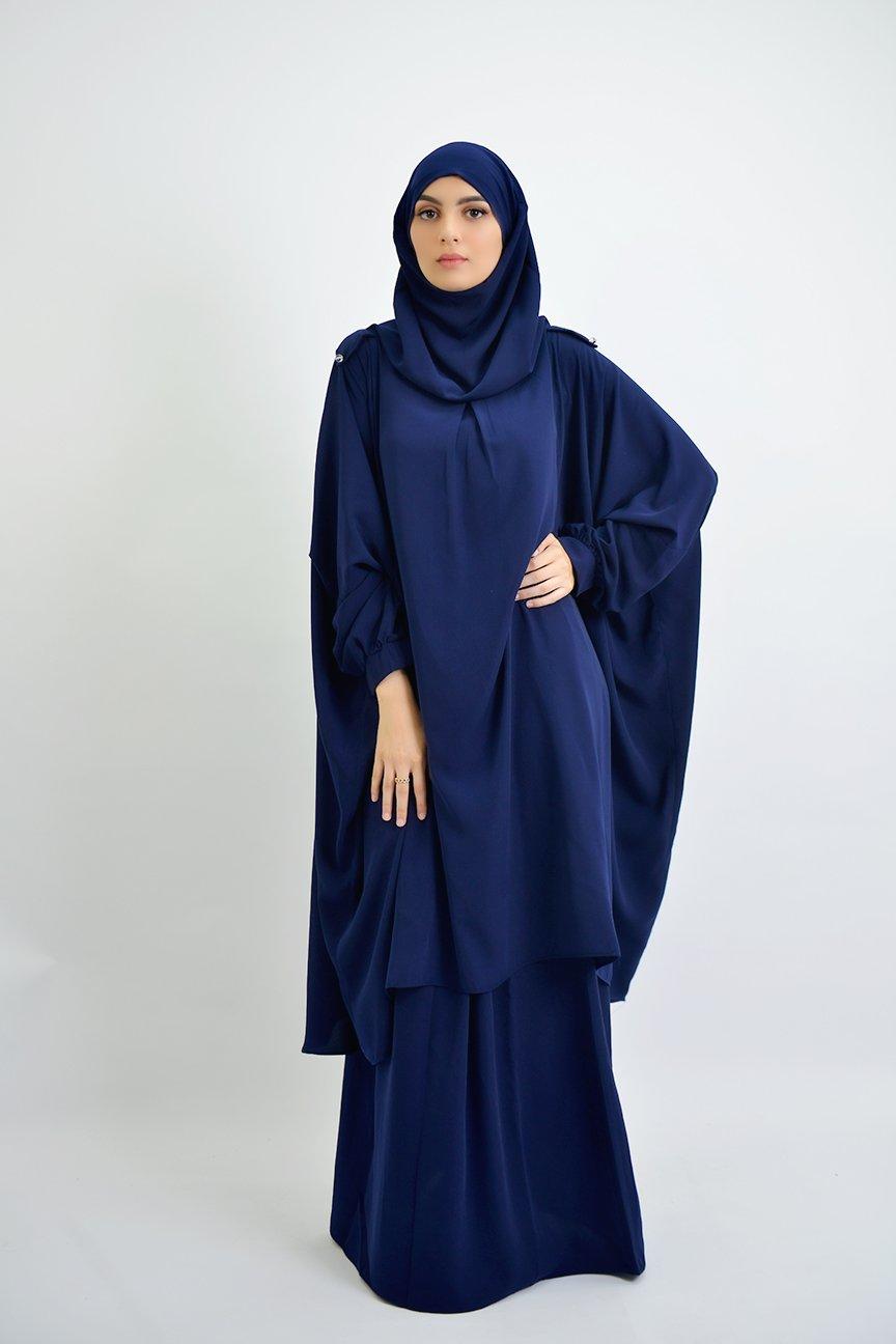 Ensemble Tunique avec hijab intégré + jupe