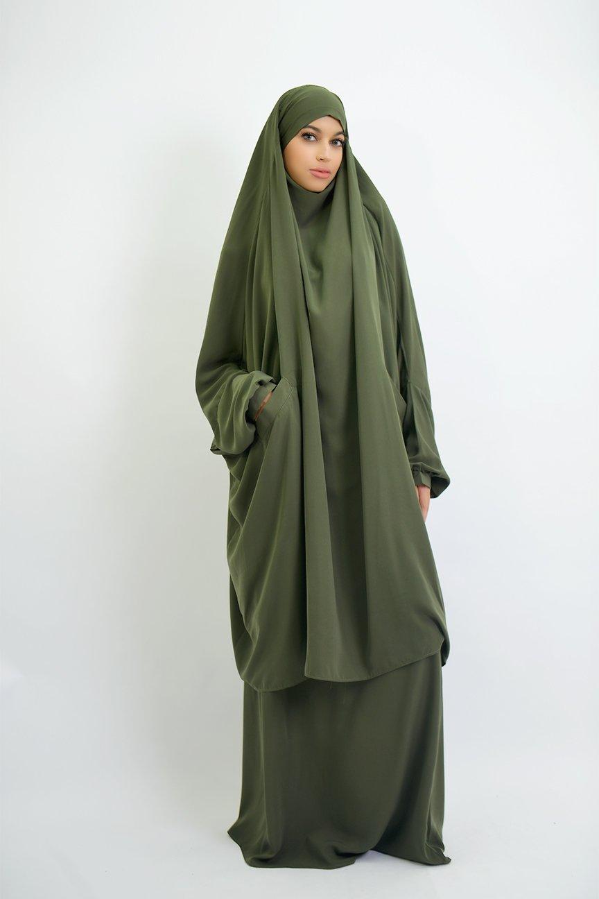 Jilbab houda cocoon with pockets
