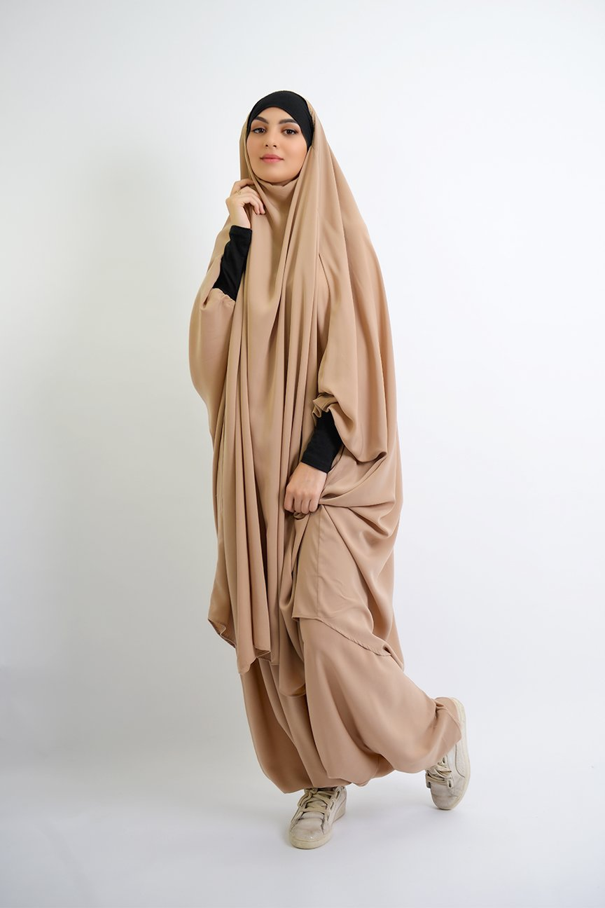 Jilbab Sarouel Lady Najah Wool Peach