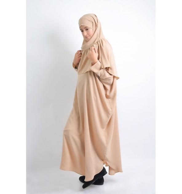 Abaya papillon + khimar à fronces Kidz