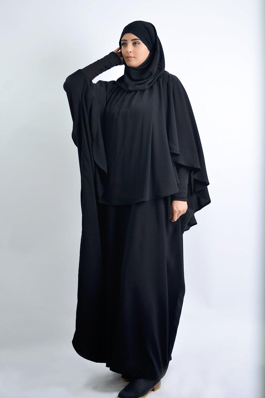 Abaya Khaleej et Khimar a Fronces