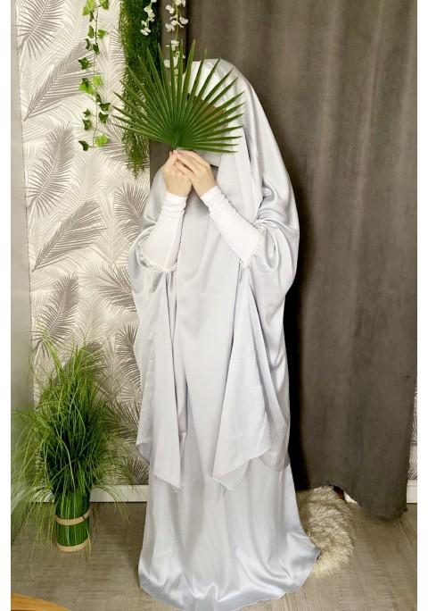 Jilbab Makkah Satin Perles