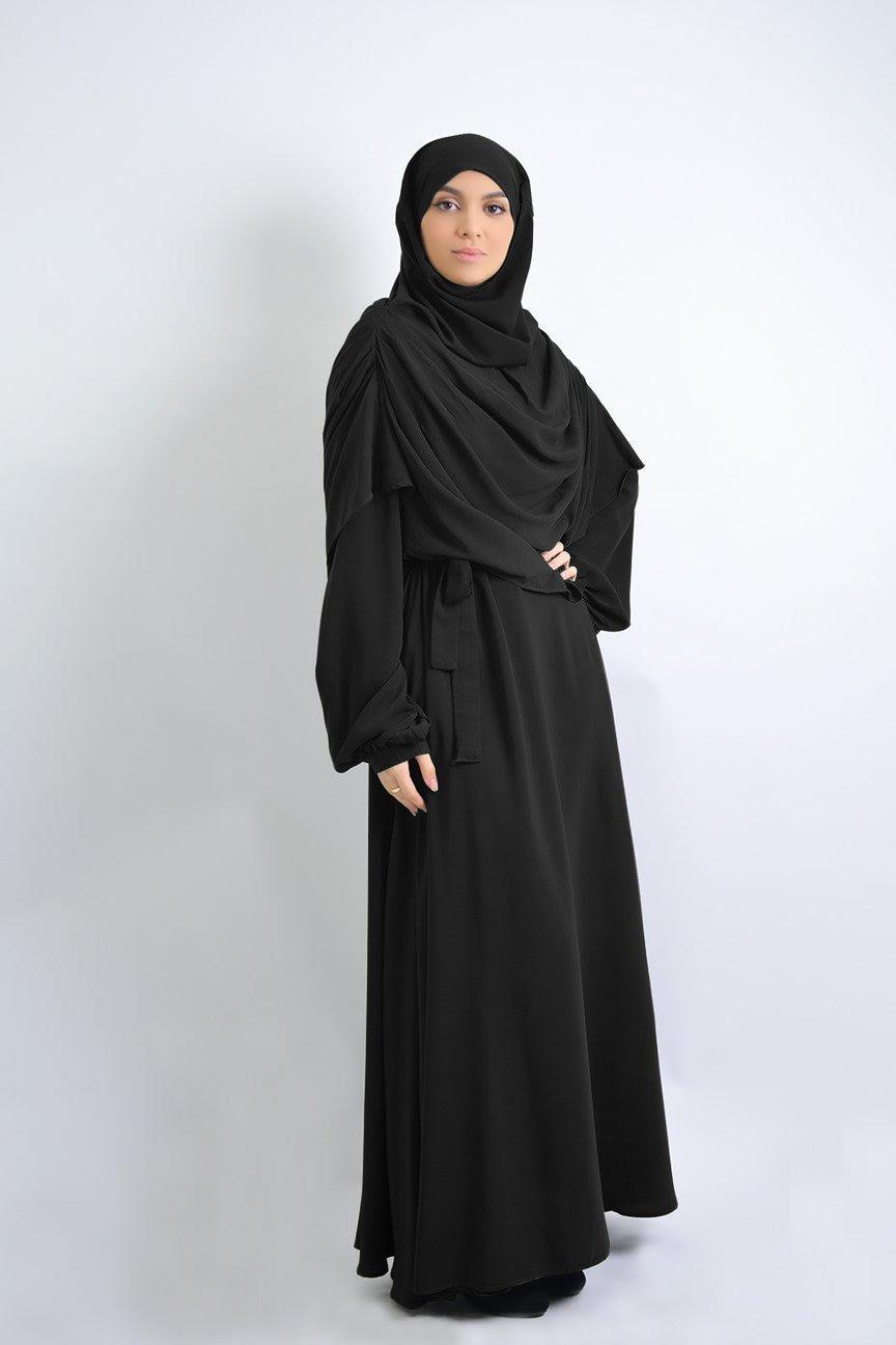 Abaya simplissime +khimar a plis