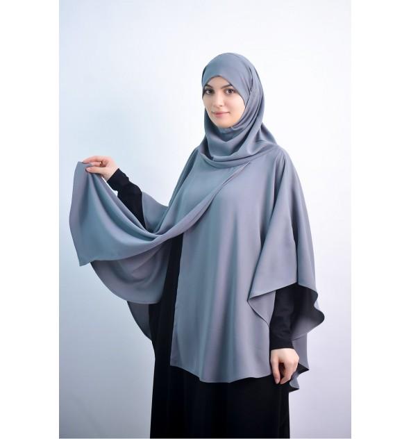 Cape avec hijab intégré Nude