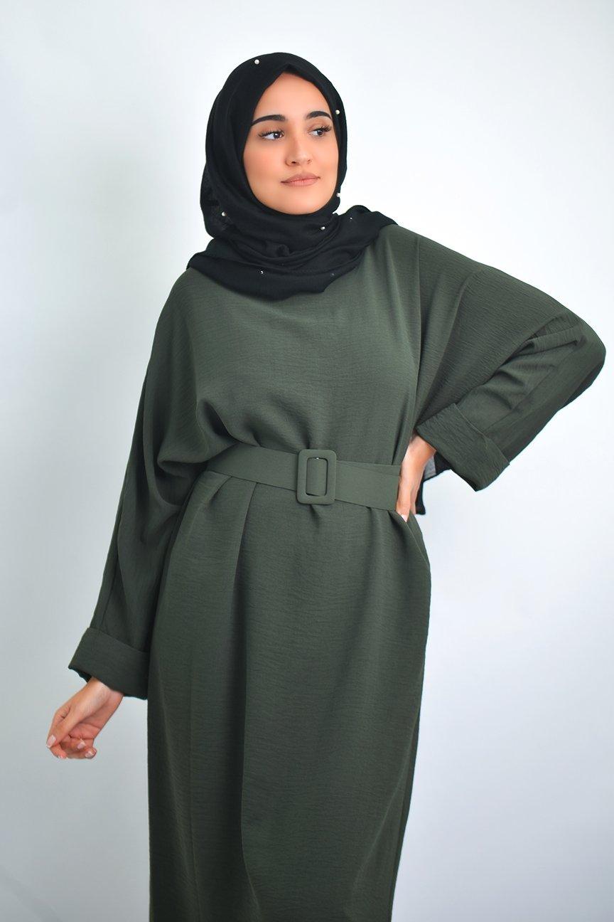Abaya papillon ceinture
