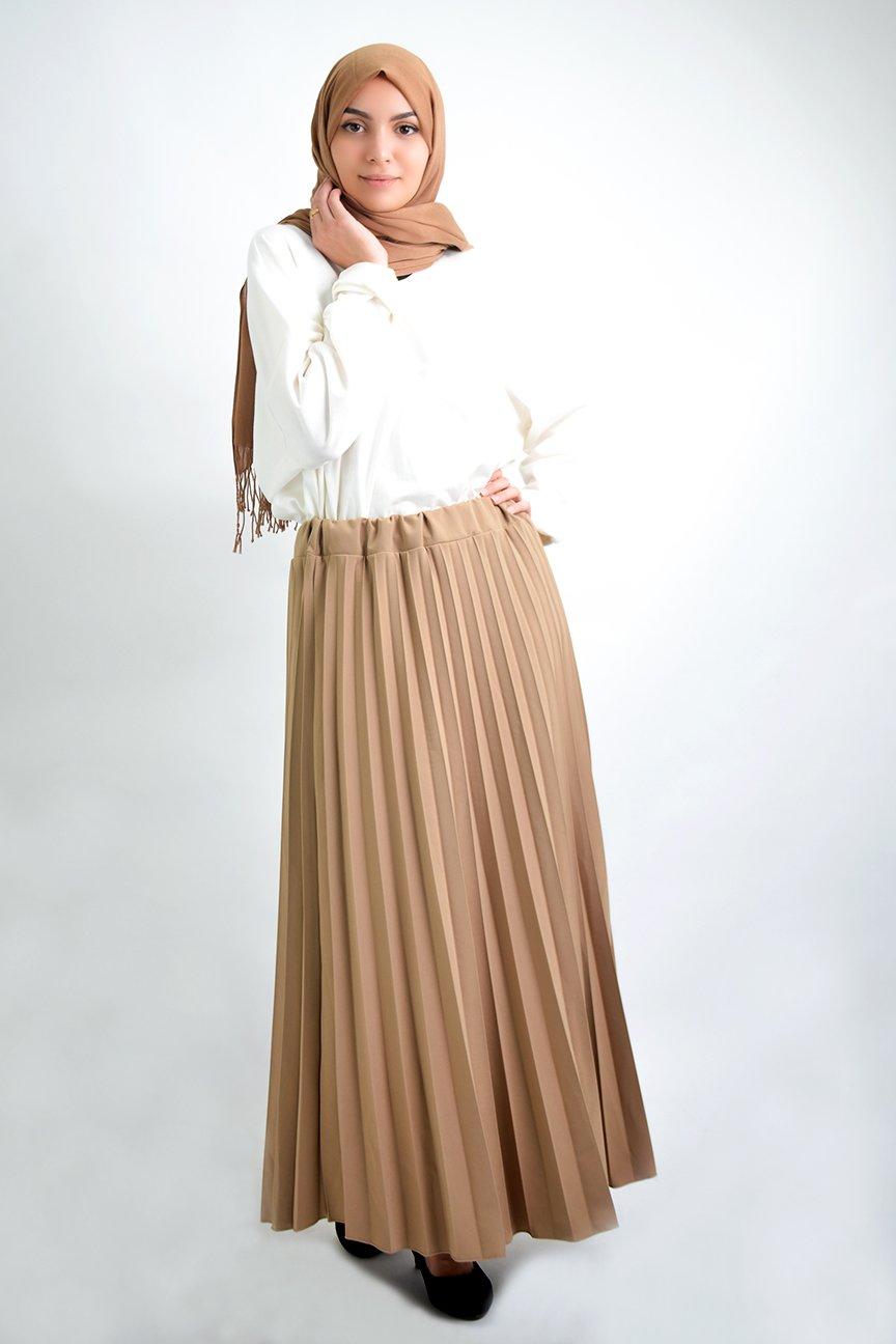 Longue jupe plissée