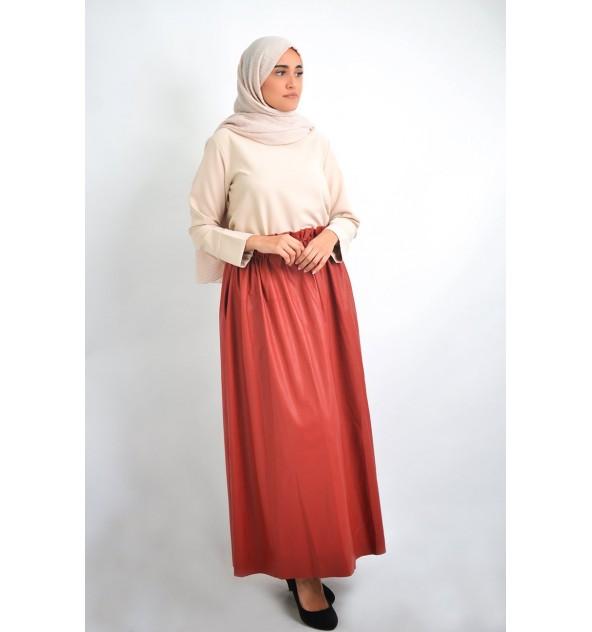 Longue jupe cuir