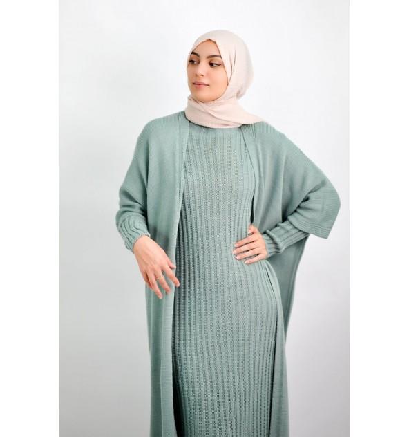 Ensemble robe et gilet Sawda
