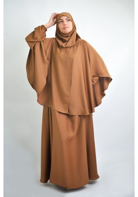 Abaya umbrella + cape with integrated hijab
