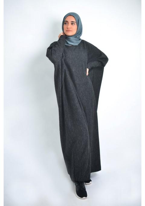 Abaya chiné d'hiver