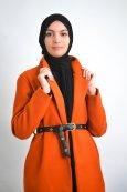 Long manteau ceinture