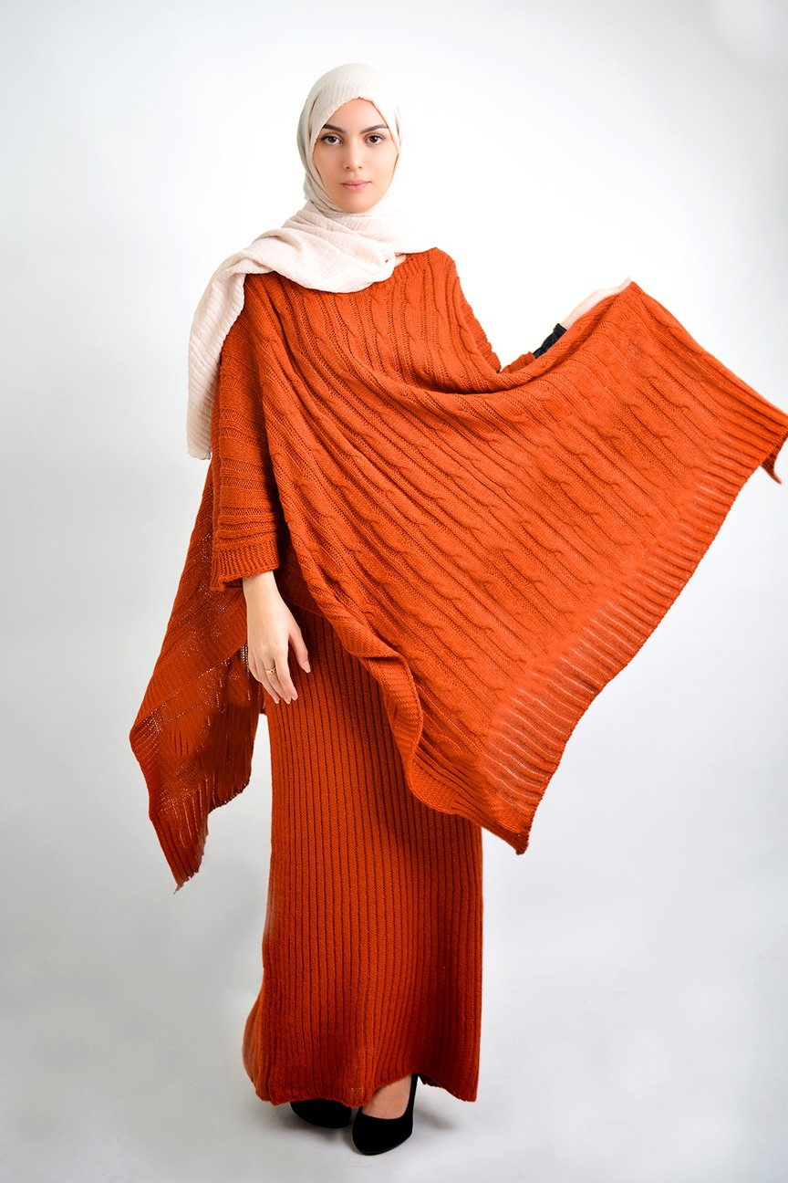 Robe et poncho laine