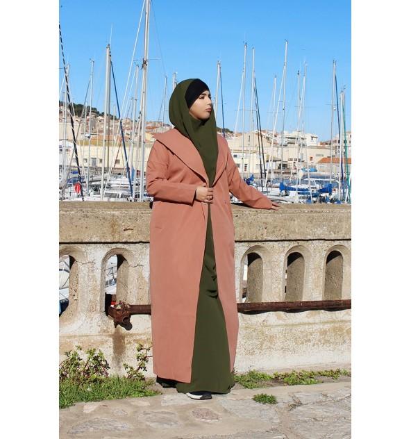 Longue veste large col