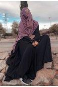 Abaya plissée évasée