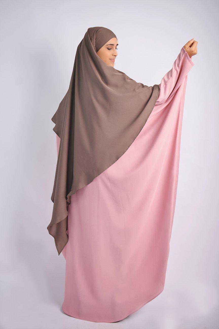 Abaya Papillon Avec Longue Khimar A Pointe