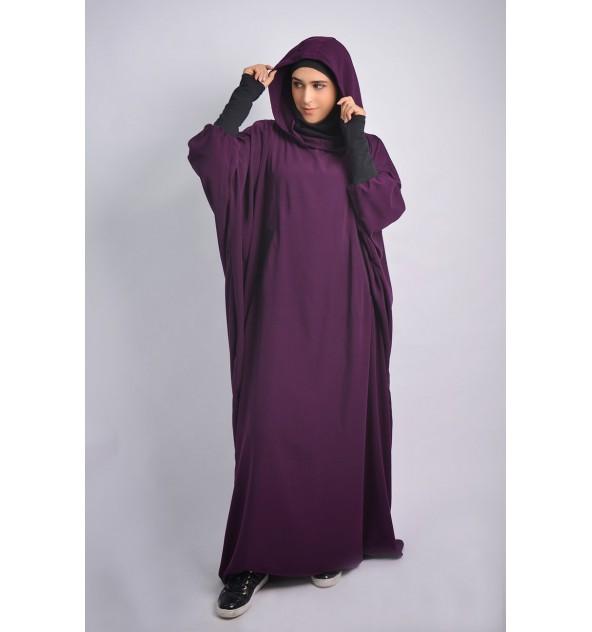 Abaya Young hijab intégré et Capuche