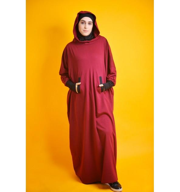 Abaya Young Molleton avec hijab intégré