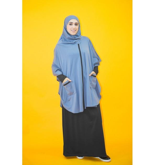 Cape avec hijab integré molleton