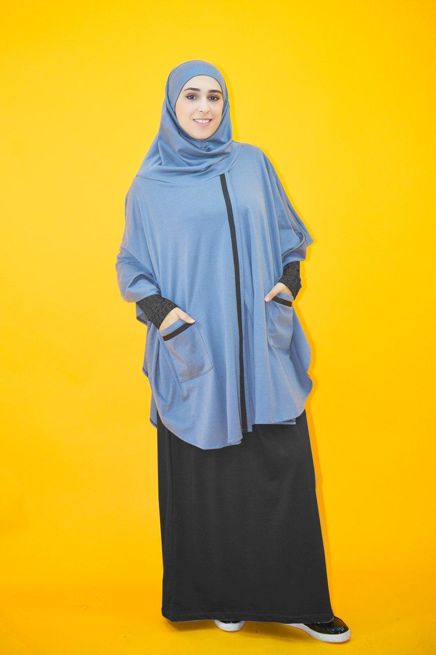 cape hijab integre molleton avec sarouel