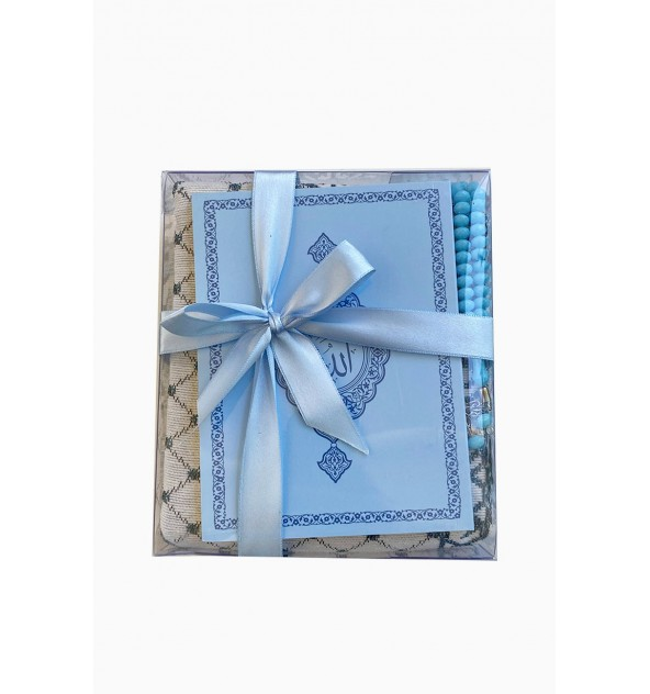 Coffret cadeau prière bleu