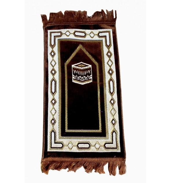 Tapis de prière enfant Makkah marron