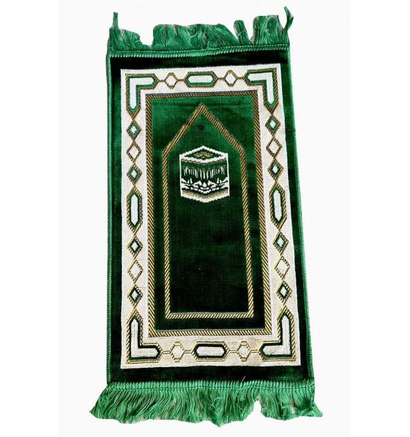 Tapis de prière enfant Makkah vert sapin