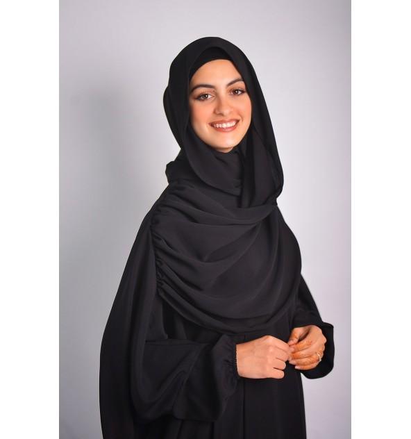 Abaya Khaleej Châle Intégré