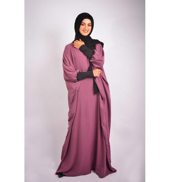 Abaya Khaleej Wool Peach