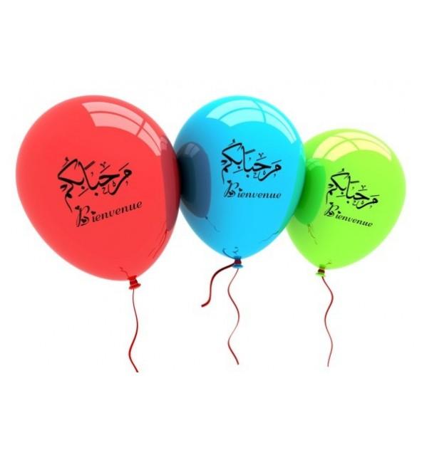 10 Ballons bienvenue
