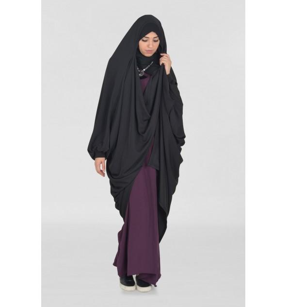 Jilbab vest Makkah black Nida