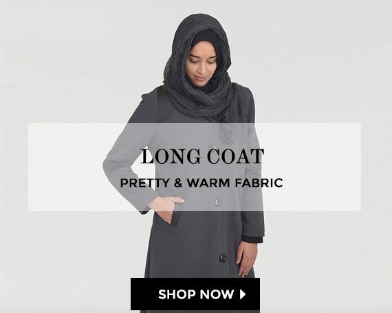 Long coat, hijab